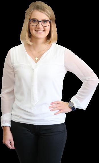 Nina Kammerer, Auszubildende zur Steuerfachangestellten der Steuerkanzlei Sabine Zillinger